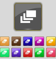Layers icon sign Set with eleven colored buttons vector