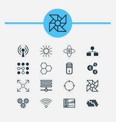 Learning icons set collection of algorithm vector