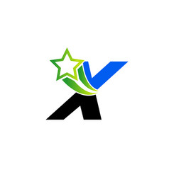 letter x alphabetical logo design concepts set vector image