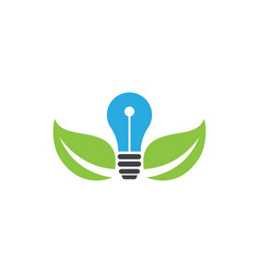 light bulb logo template vector image