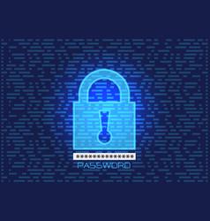 lock screen password key data computer security vector image