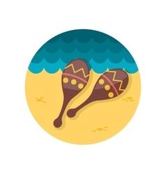 Maracas flat icon vector
