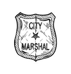 Marshal badge vector