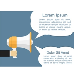 Megaphone with Speech Bubbles vector image