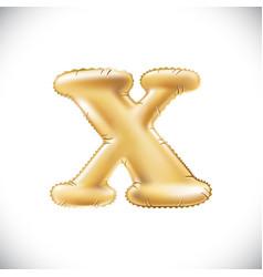 metallic gold x balloons golden letter new year vector image