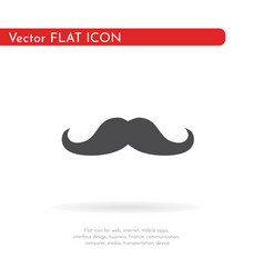mustache icon for web business finance and vector image