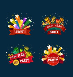 New year party event tittle vector