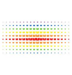 Open book spectral halftone array vector