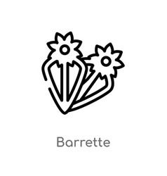 Outline barrette icon isolated black simple line vector