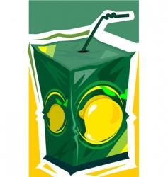 pack juice vector image