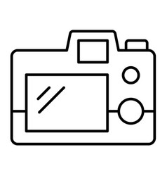 photo cameras back view thin line icon back of vector image