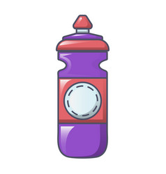 plastic water bottle icon cartoon style vector image