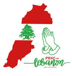 Pray for lebanon pray for beirut beirut vector