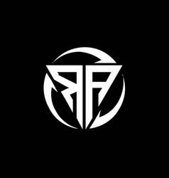 Ra logo monogram design template vector