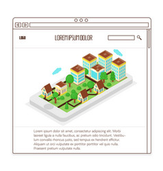 real estate website vector image
