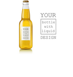 Realistic beer bottle vector image