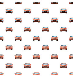 Red car front view pattern vector