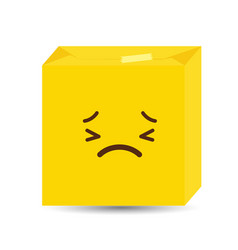sad emoji icon design vector image