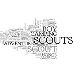 Scout word cloud concept vector