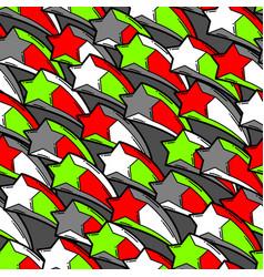 Seamless pattern with cartoon stars vector