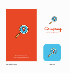 search location company logo app icon and splash vector image
