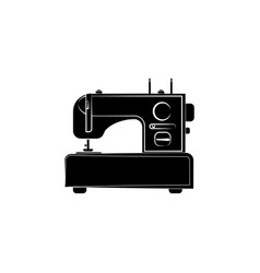 sewing machine icon black on white background vector image