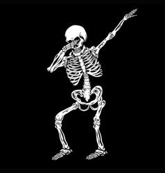 Skeleton human dabbing vector