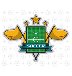 Soccer tournament league vector