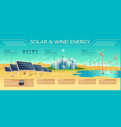 Solar and wind energy concept vector
