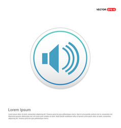 sound volume icon - white circle button vector image