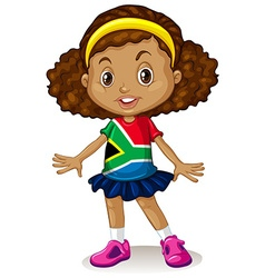 South African girl standing alone vector