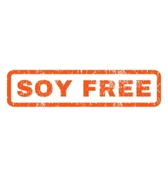 Soy Free Rubber Stamp vector image