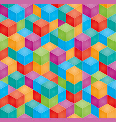 Stack colorful bablocks seamless 3d vector