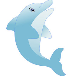 standing dolphin cartoon vector image