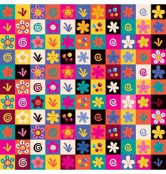 Sweet flowers pattern vector
