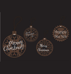 Tag merry christmas icons for web design isolated vector