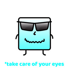 Take care of your eyes do not forget to smile vector