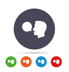 Talk or speak icon speech bubble symbol vector