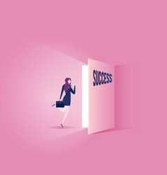 Way to success - business concept vector