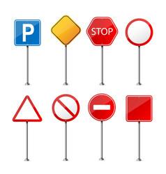 creative of road warning sign vector image
