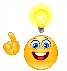 idea emoticon vector image vector image