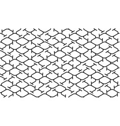 Isometric seamless pattern net lines background vector