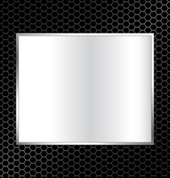 abstract metal texture background with rectangle vector image vector image