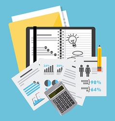 business planning vector image