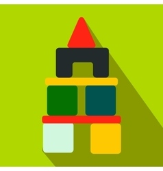 Children blocks flat icon vector image