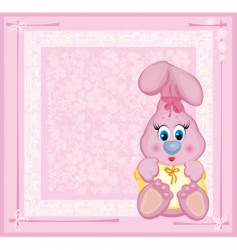 cute card for baby vector image vector image