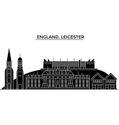 england leicester architecture city vector image