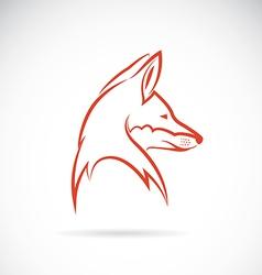 Image of an fox head vector