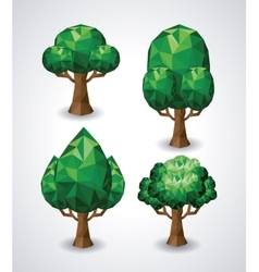 nature low poly design vector image
