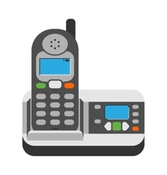 Office phone vector